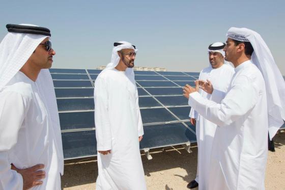 Arab men, PV, Masdar, UAE, Middle East, Africa, solar power, photovoltaics, clean tech, renewable energy,