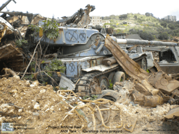 Army Junk Vehicles Sunk as Artificial Reefs off Lebanese Coast (Photos)