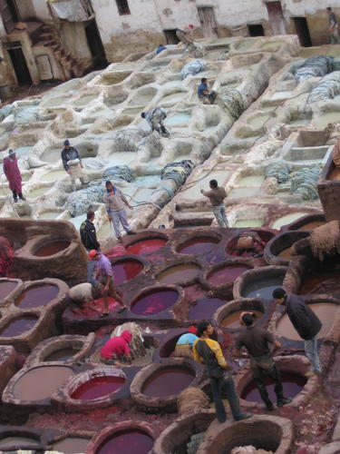 tannery, Fez, Ain Nokbi handcraft, pollution, Lalla Yeddouna Square, medina, Sebbou river, coppersmith