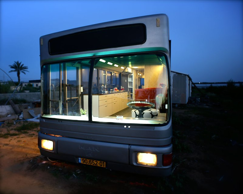 Israeli Long Public Bus Converted into $300,000 Un-green Luxury Home