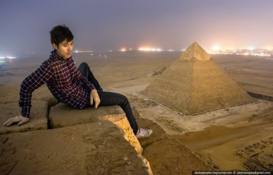 russian skywalkers middle east Russians Photograph Giza 2