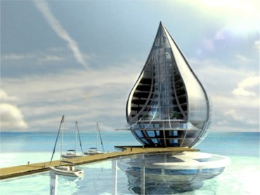 Solar-Powered Water Drop Building Produces Drinking Water from Dubai Air