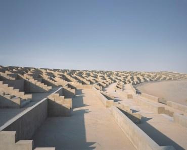 Massive Concrete Amphitheater Lies Disused Outside Dubai
