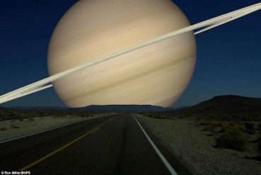 If Saturn Were as Close to Earth as the Moon