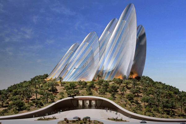 Futuristic Zayed National Museum Cooled with Wing-Shaped Steel Towers