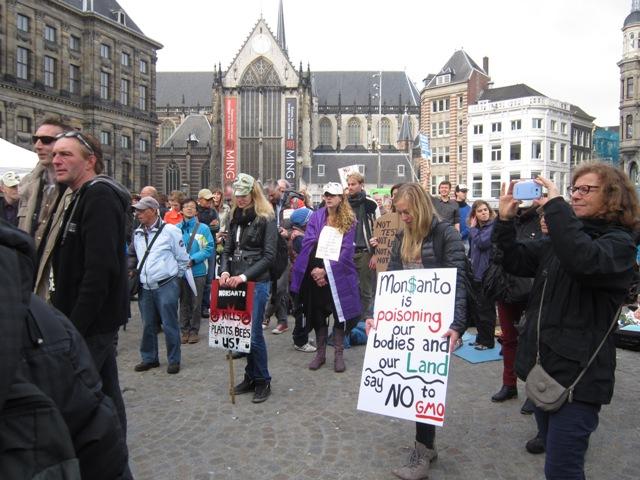 World Food Day Rally Slams Chemical Giant Monsanto in Amsterdam