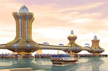 Dubai unveils lamp-shaped 'Aladdin City' towers