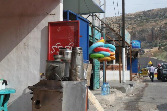 Market stop near the Dead Sea