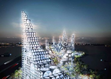 Japan's Sou Fujimoto Re-Imagines Doha with Modular Stacked Arches