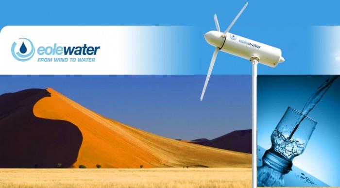 Eole's double-duty turbines wick water from wind