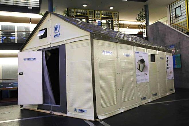 refugee housing, temporary shelter, humanitarian design, refugee shelters, homes for refugees, IKEA, solar-powered flatpack shelter