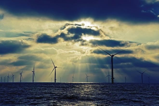 London Array, NASA photos, Earth Observatory, world's largest wind farm, London Array, wind energy, clean tech, wind farm from space,