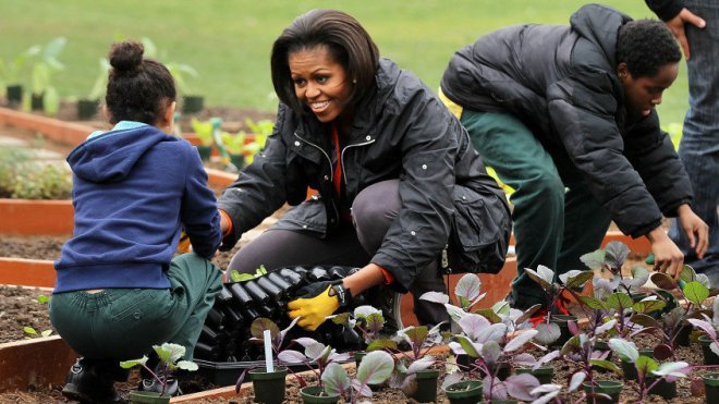 Michelle Obama urban gardening