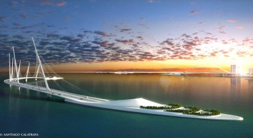 Calatrava's Sharq Crossing adds 3 bridges and an elevated park to Doha's skyline