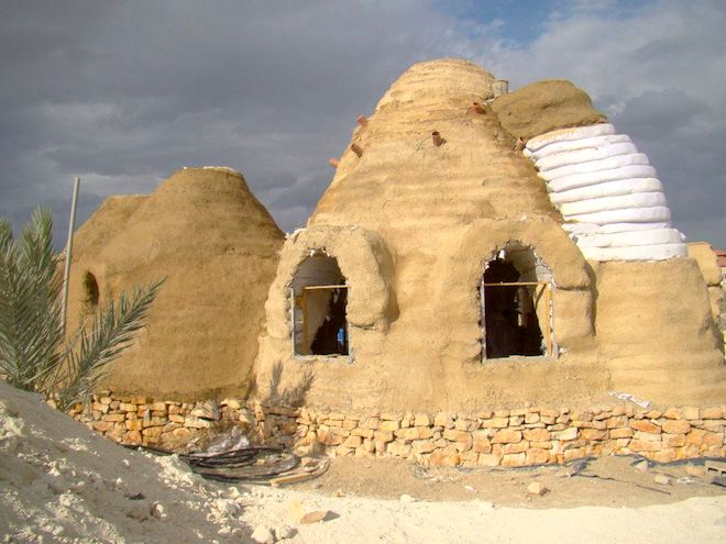 ShamsArd Design Studio, Palestine, Palestinian architects, green design from Palestine, eco-dome, dome home, earth construction, Nader Khalili, Superadobe construction