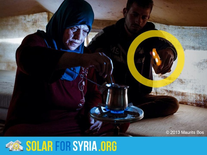 Solar for Syria, clean tech, humanitarian design, syrian refugees, Jordan, Lebanon, buy one give one campaign