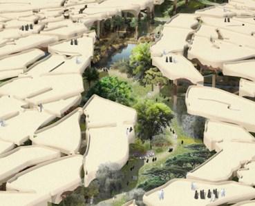 An urban park that embraces its desert environment