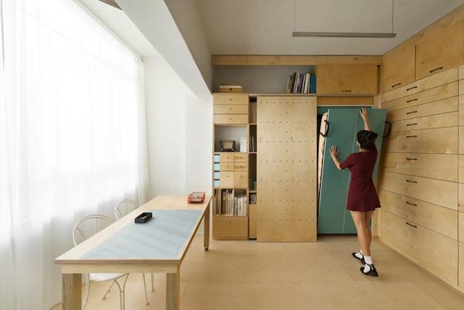 Tel Aviv, artist studio, Raanan Stern, space management, modular design, green design, green renovation, Israel