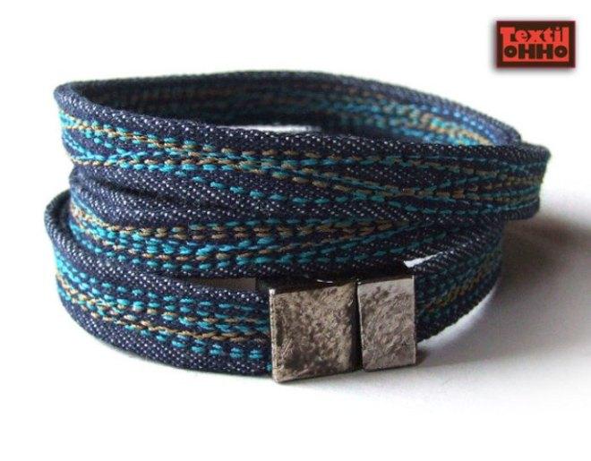 Textil oHHo jean bracelet