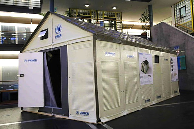 UN Refugees, IKEA Prefab shelter, flatpack refugee homes, IKEA refugee homes, Lebanon, Syrian refugees, solar powered refugee homes