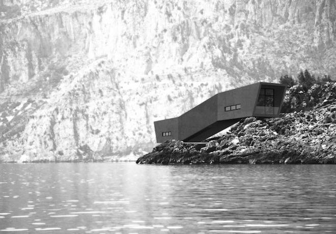 Villa Minima #3 looks like a caterpillar on a rocky landscape in Turkey
