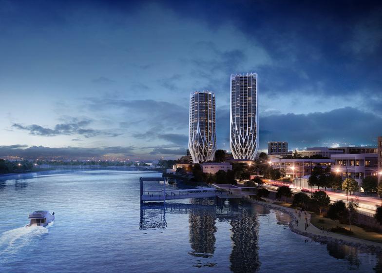 Iraq-born Zaha Hadid's new towers on former radiation zone in Australia