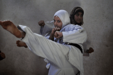 Sensai says: Gaza girls do karate, even after marriage!
