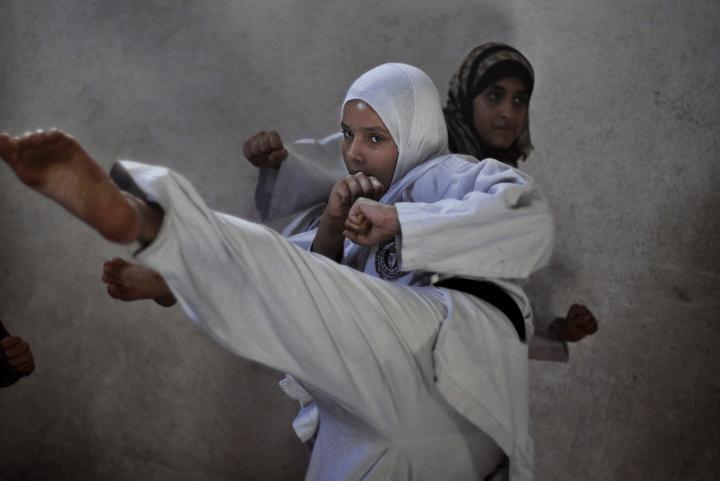 Sensai says: Gaza girls do karate, even after marriage!