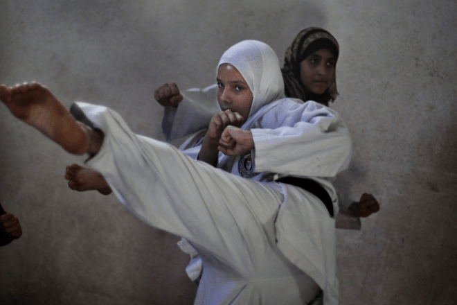 gaza girls karate