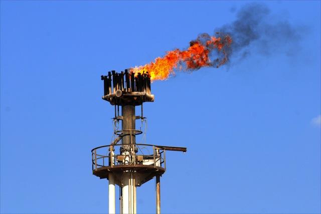 libya natural gas flare