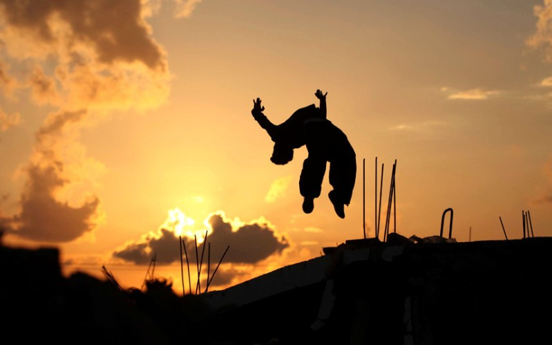 Gaza Parkour: positive change is in the air