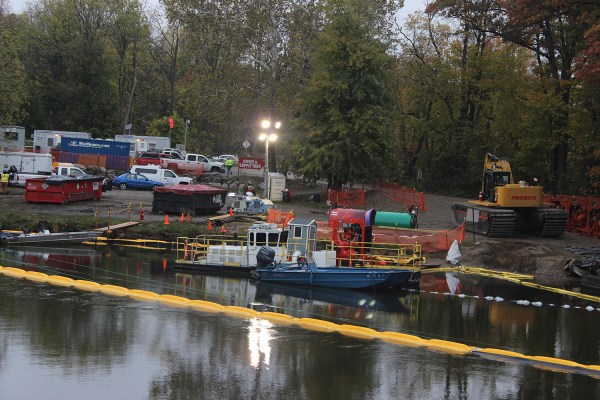 The EPA has ordered Enbridge back to the Kalamazoo to do additional cleanup. Dredging operations begin before dawn.