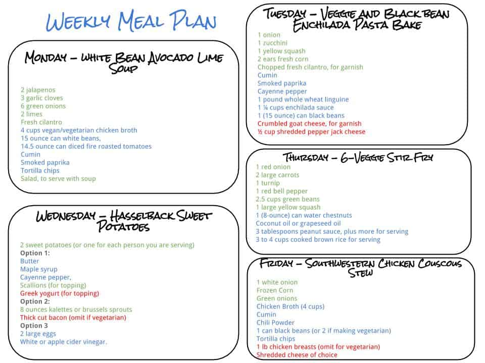 Healthy Weekly Meal Plan - 91915 - Cook Nourish Bliss - weekly healthy meal plan
