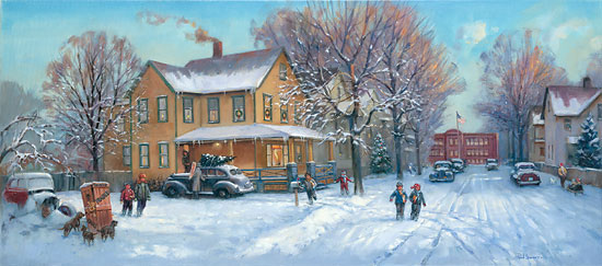 Live Winter Snow Fall Background Wallpaper Paul Landry A Christmas Story Limited Edition Print