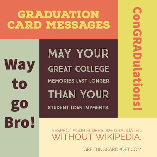 Graduation card messages, sayings, quotes, wishes Funny