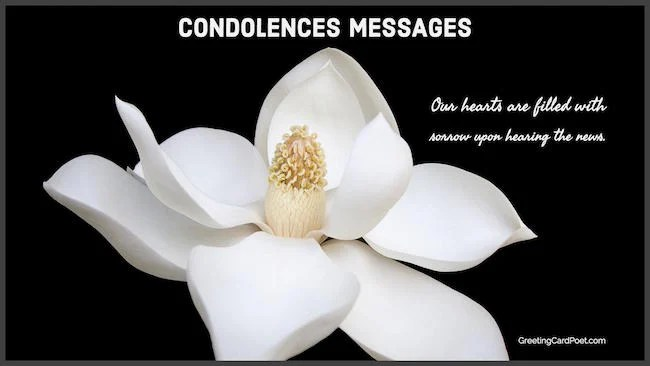 Condolence Messages and Sincere Sympathy Sayings for Loss - Condolence Messages