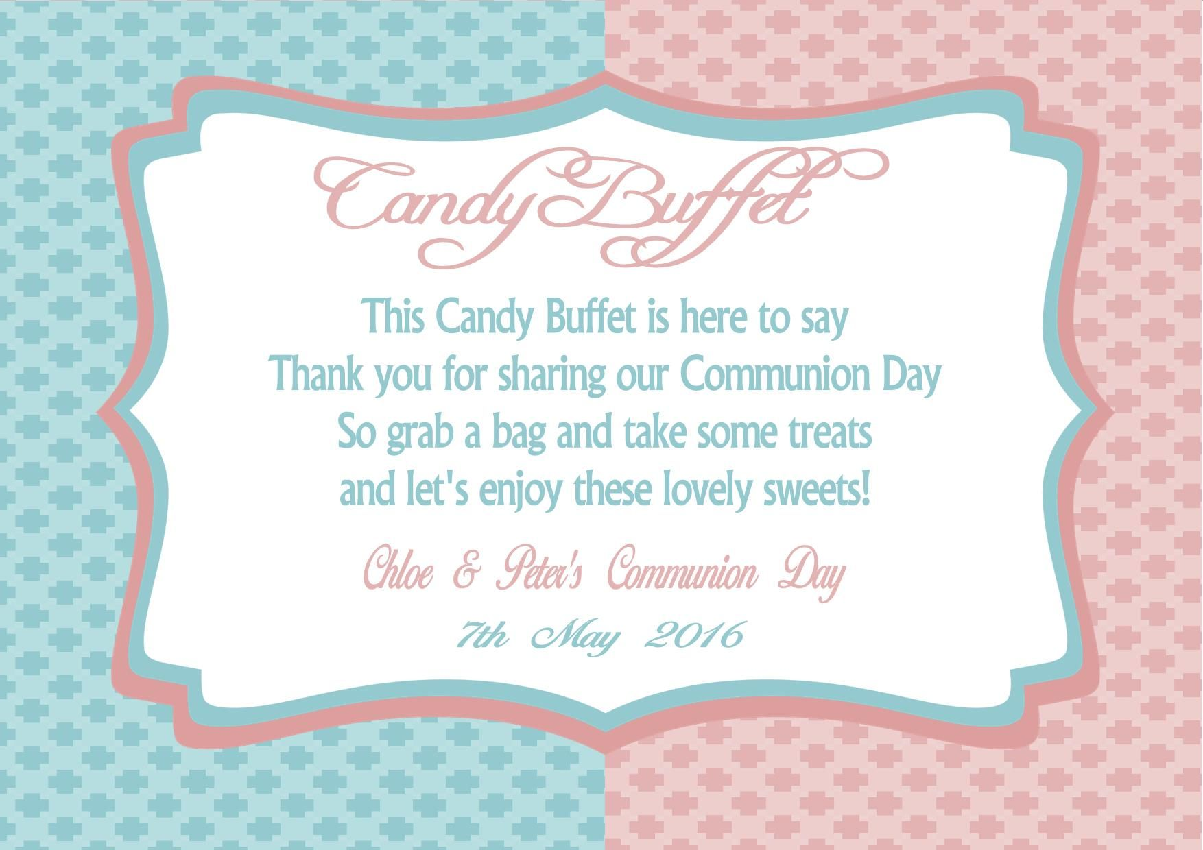 graphic about Free Printable Candy Buffet Signs named Wedding ceremony Adorable Desk Signal Template - Principlesofafreesociety