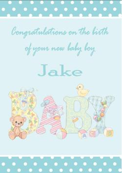 Natural Personalised New Baby Boy Card Design 1 253 P Congratulations New Baby Girl Religious Congratulations New Baby Girl