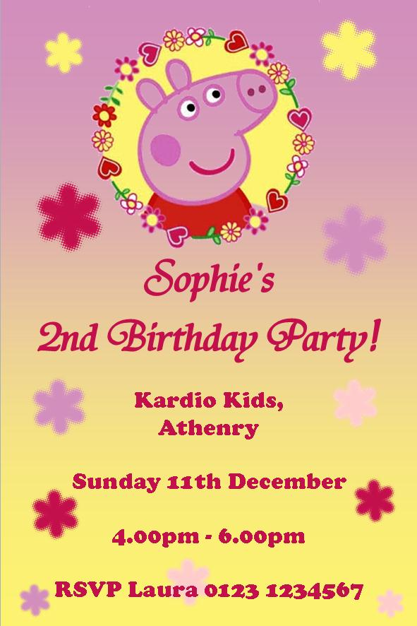 kids birthday invites