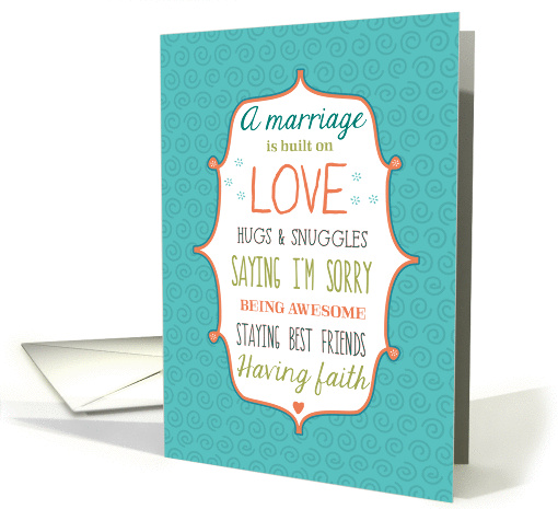 Words to Live By - Lesbian Wedding Congratulations card (1079834)