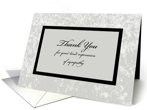 Sympathy or Funeral Thank You Card -- Classic Sympathy Thank You card - funeral words for cards