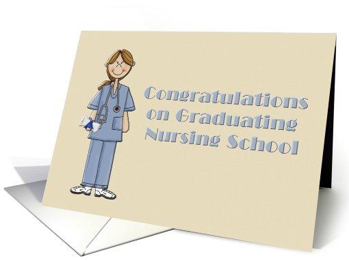 Congratulations on Graduating Nursing School-Nurses, Graduation, card