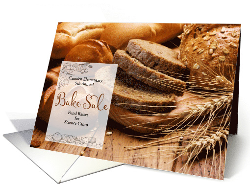 Bake Sale Invitation Announcement Baked Breads card (442943)