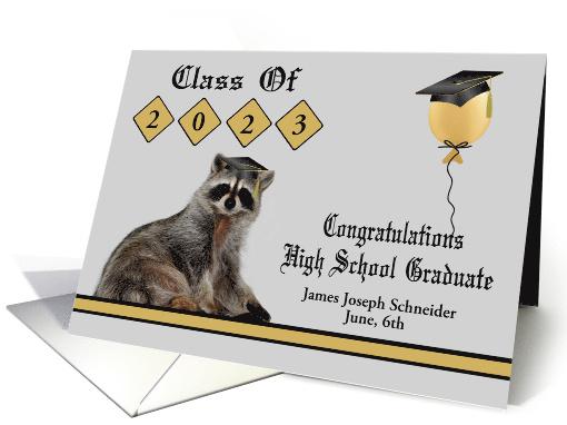 Congratulations on High School Graduation custom name and year card