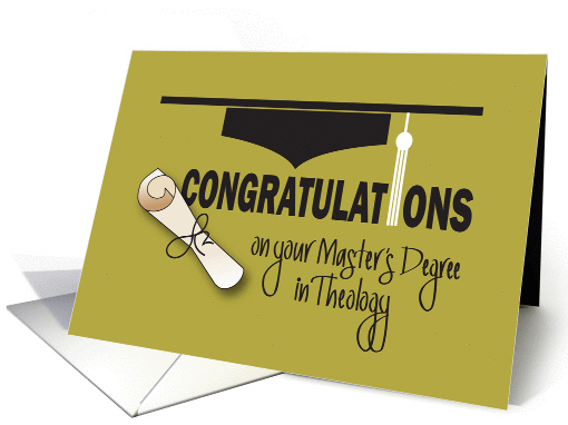 Congratulations On Graduating From Ministry School Cards from