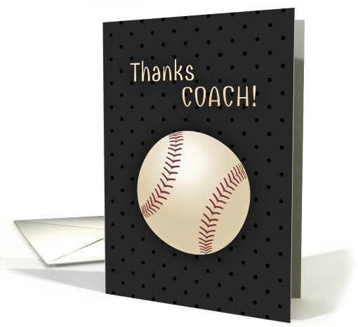 Thank You Coach Baseball Softball card