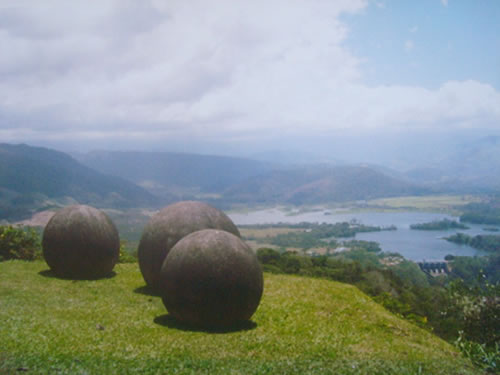 Stone spheres on a mountain overlooking the Reventazon River in the Limón Province of Costa Rica - Mysterious Stone Spheres of Costa Rica – Greetings from the Past