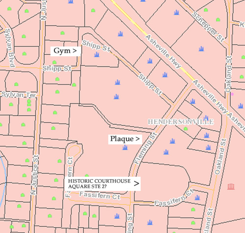 Tax Map of the area where Fassifern School for Girls used to be