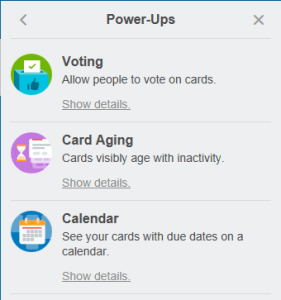 Power-Ups add functionality to cards.