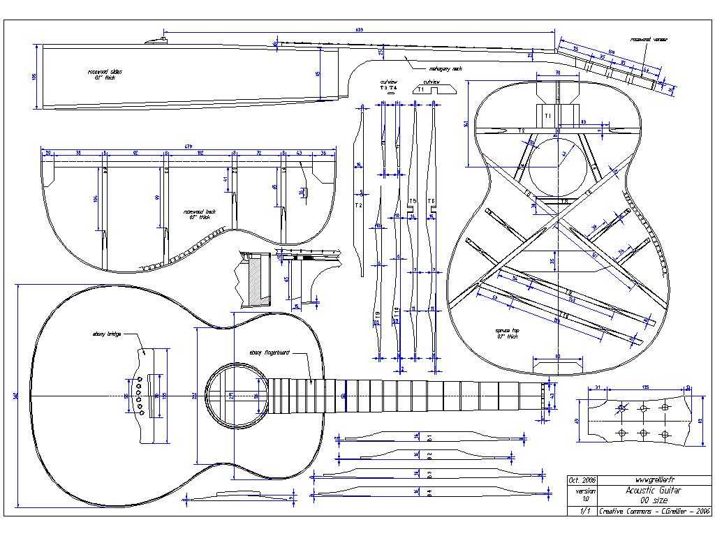 acoustic guitar bracing diagram